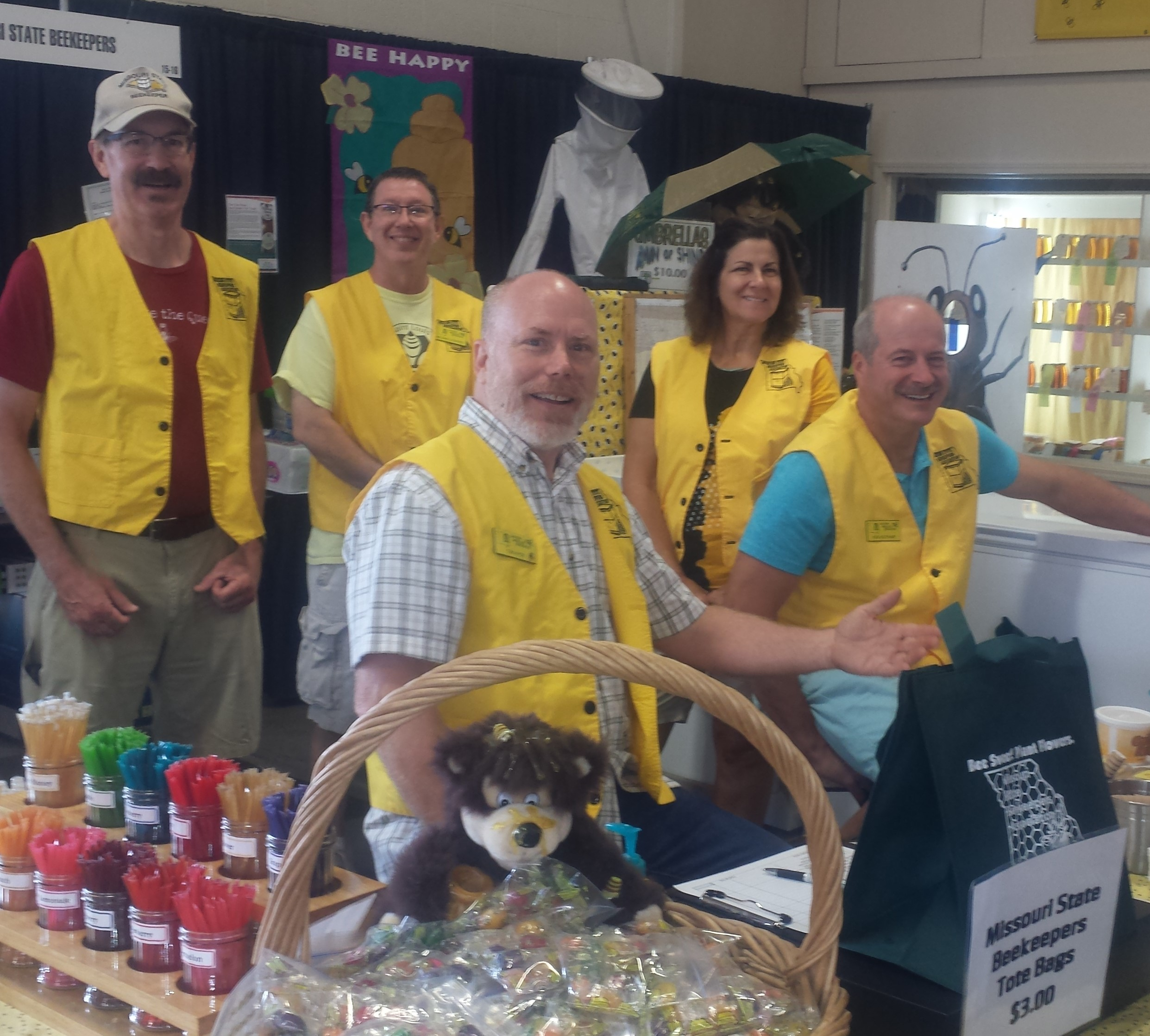 EMBA members working the EMBA booth at the Missouri State Fair